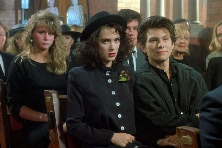 Two of Heathers' stars, Winona Ryder and Christian Slater (right), went on to become leading lights in Hollywood.