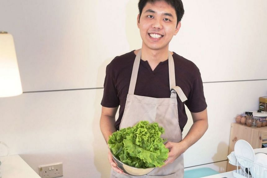 Chef Gan Ming Kiat, 29, of the Mustard Seed Pop Up, a private dining business he runs from his family home.