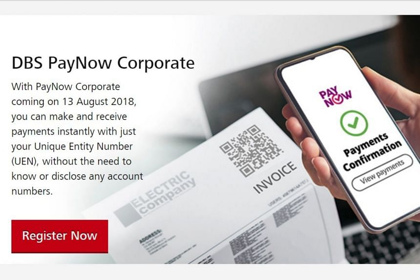 DBS Bank projects about 50,000 small and medium-sized enterprises will sign up for PayNow Corporate by the end of next year.