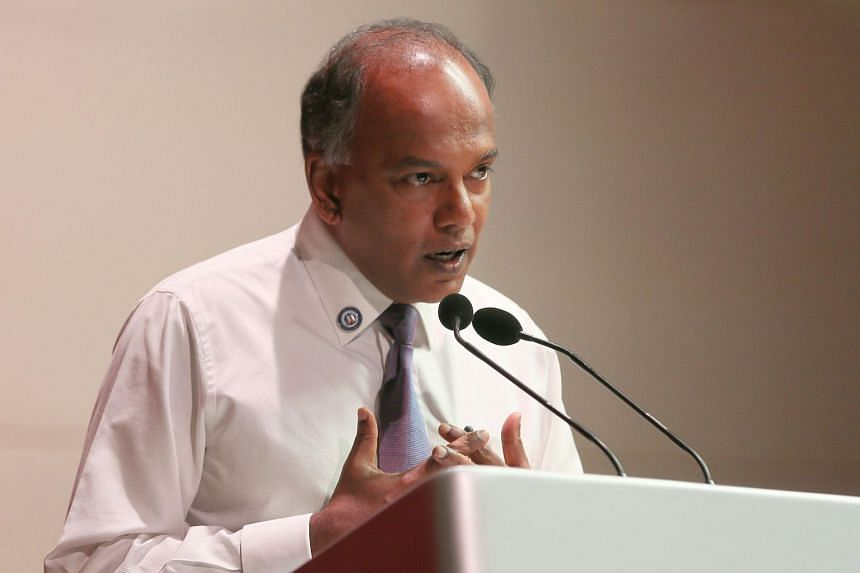 Law and Home Affairs Minister K Shanmugam urged students to fight against extremism online by actively learning about religion through established sources.