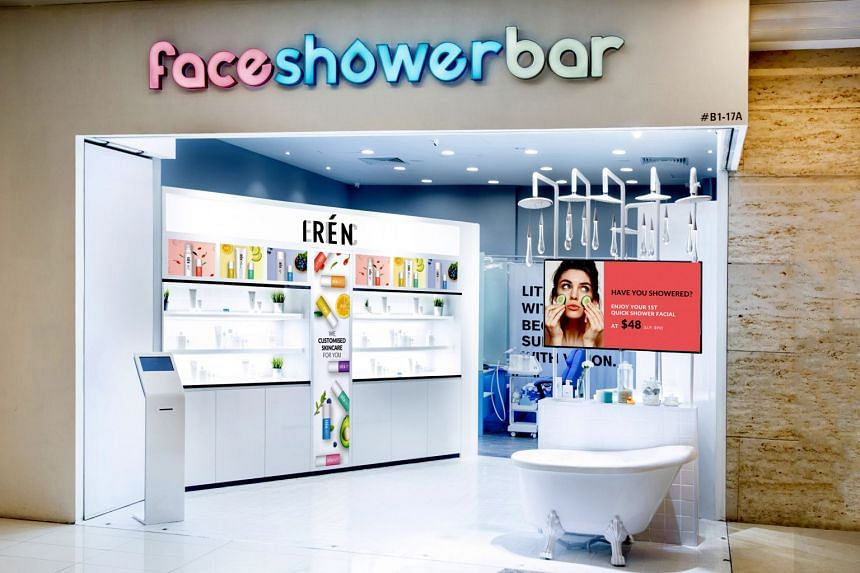Facials are customised to suit the customer at Face Shower Bar (above). The treatment includes cleansing and application of a facial mask.