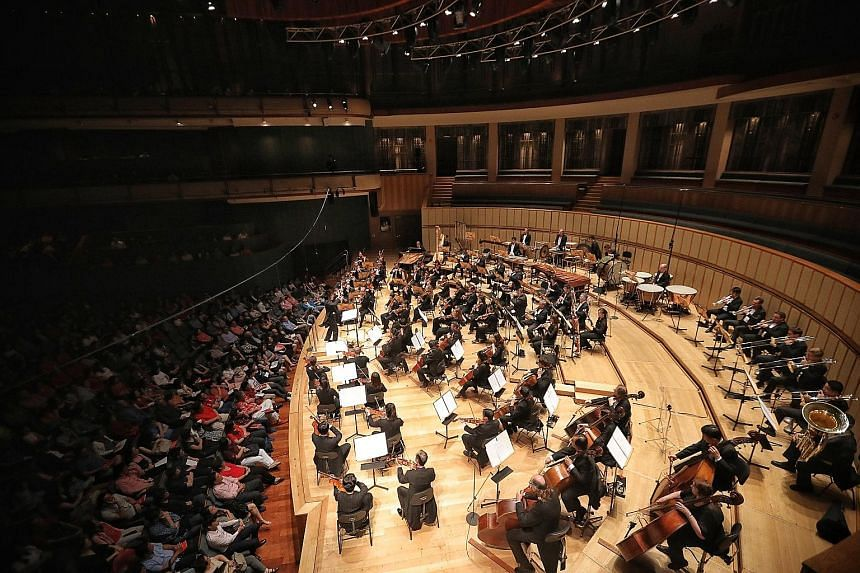 In a first for the Singapore Symphony Orchestra (SSO), it streamed a concert yesterday on Facebook and at the Esplanade Outdoor Theatre. The National Day concert was performed at the Esplanade Concert Hall and attended by about 1,400 people, includin