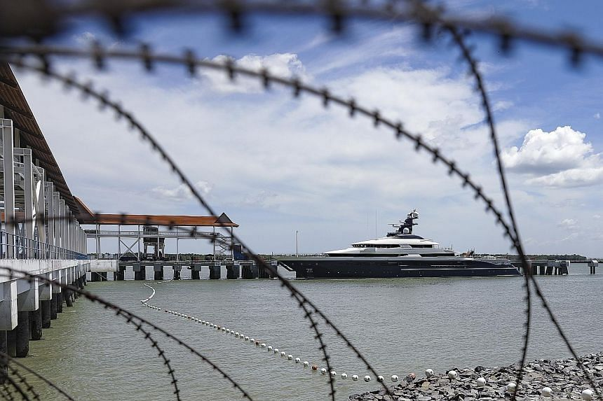 Superyacht Equanimity has been berthed at Port Klang since Tuesday after being handed over by Indonesia to the Malaysian authorities.