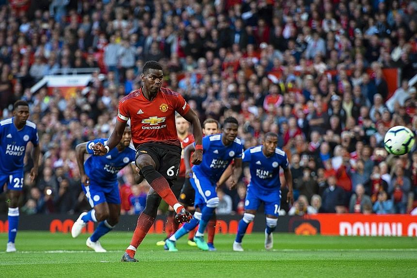 Pogba, captain for the match, coolly putting United ahead from the penalty spot after three minutes.