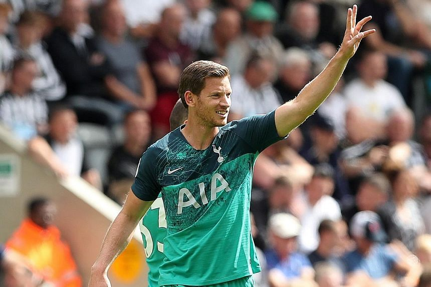 It took defender Jan Vertonghen just eight minutes to open his account for Tottenham this season and give his side the lead in their 2-1 away win at Newcastle yesterday.