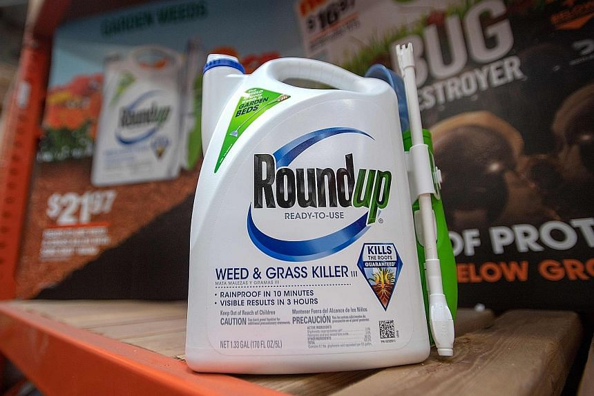 Roundup weedkillers for sale at a hardware store in San Rafael, California.
