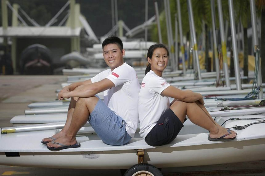 Nacra 17 sailors Justin Liu and Denise Lim finished 25th out of 68 and were the top Asian pair at the Sailing World Championships in Aarhus, on Aug 10, 2018.