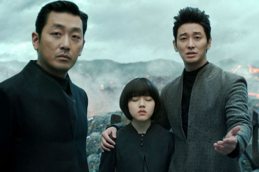 Along With The Gods: The Two Worlds stars (from left) Ha Jung-woo, Kim Hyang-gi and Ju Ji-hoon.
