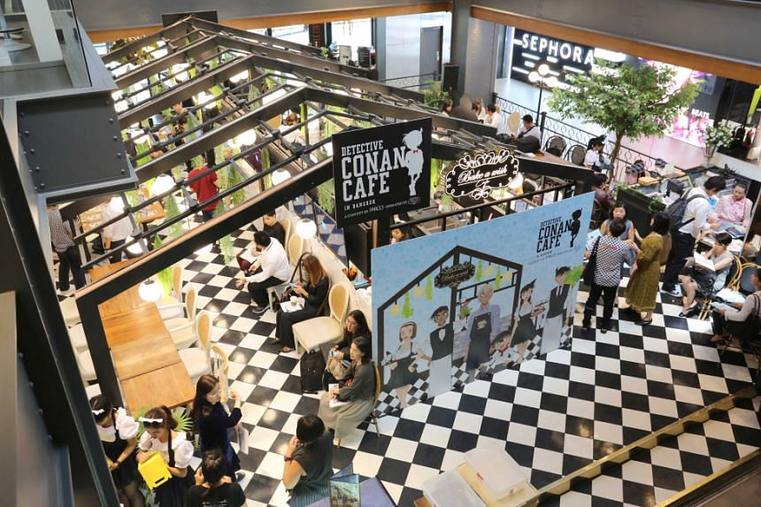 The first pop-up Detective Conan Cafe has taken up residence at Siam Centre.