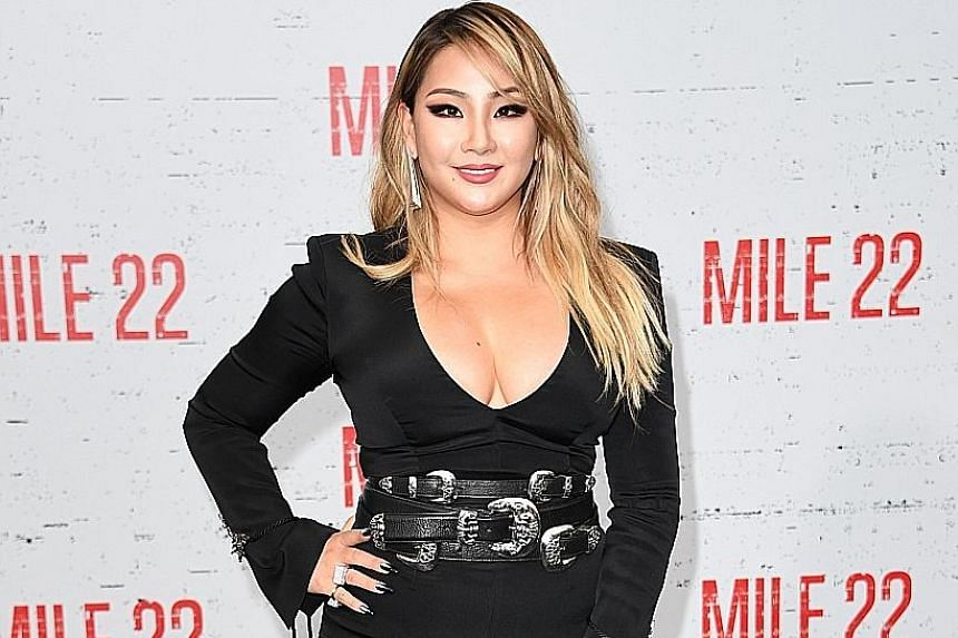 CL at the premiere event of the Mile 22 film last Thursday.