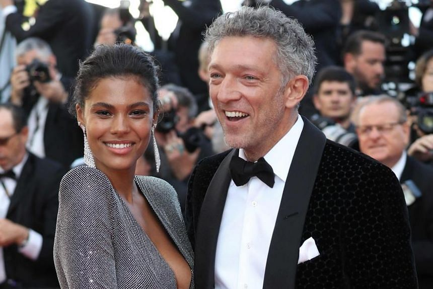 Actor Vincent Cassel and his partner, Togolese-Italian model Tina Kunakey (both above) at the screening of the film, Girls Of The Sun, at this year's Cannes Film Festival in May.