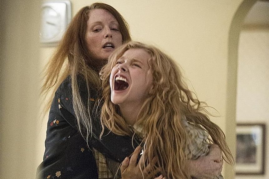 Actress Chloe Grace Moretz (above), whose new movie is titled The Miseducation Of Cameron Post, counts Julianne Moore (left, with her in the 2013 film Carrie) as one of the actresses whose careers she admires.