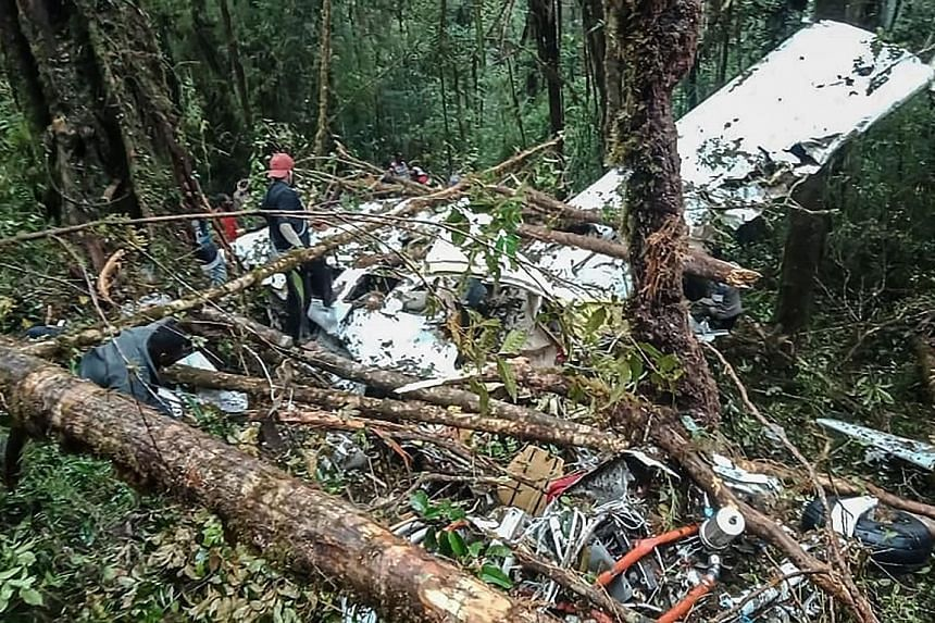 The wreckage of the plane was found in a heavily forested area on a mountain side in the Oksibil sub-district yesterday morning. The plane, which was owned by private charter company Dimonim Air, was carrying seven passengers and two crew members.