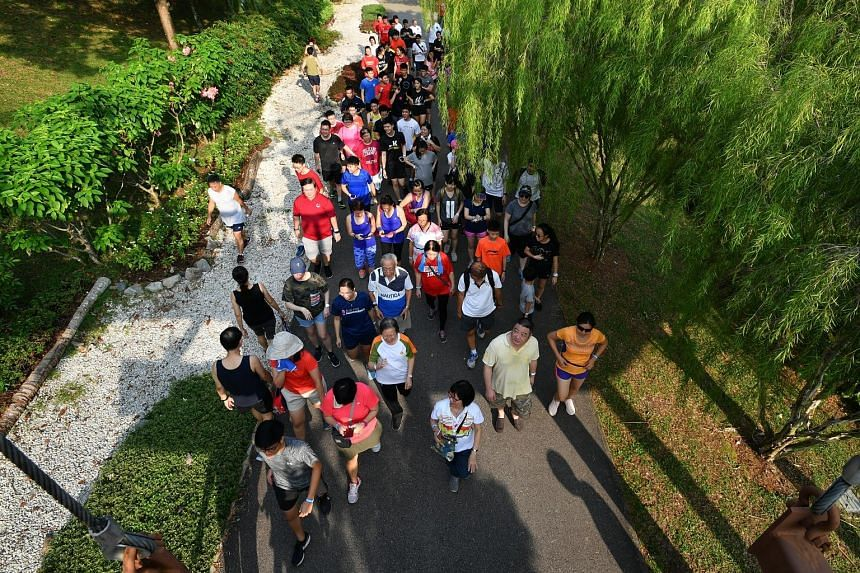 The charity run at Punggol Waterway Park yesterday has raised about $4,000 for Parkinson Society Singapore this year. It was organised by Hwa Chong Institution students to raise awareness about Parkinson's disease, the second most common neuro-degene