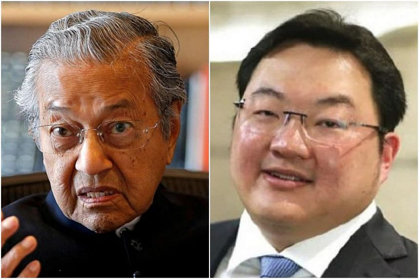 Malaysian PM Mahathir Mohamad (left) confirmed the government is looking to bring home a private jet said to belong to fugitive businessman Low Taek Jho.