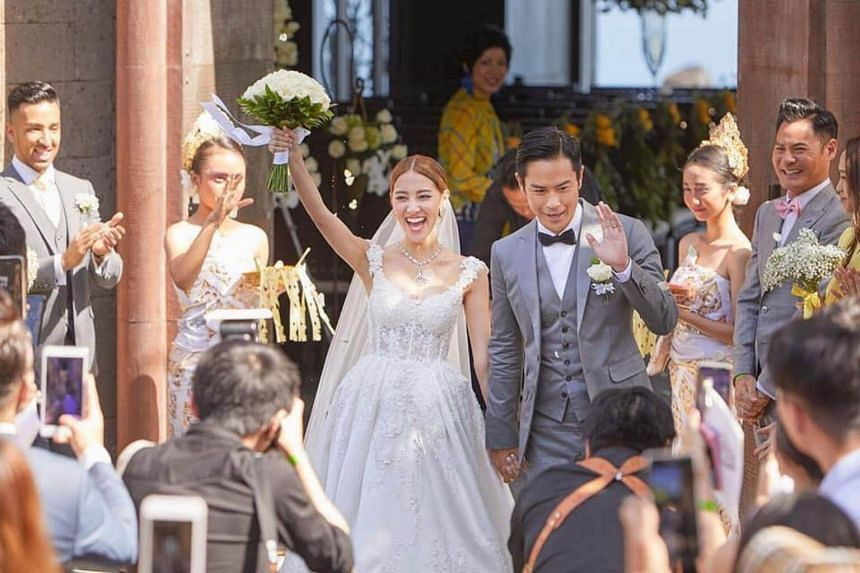 Grace Chan tied the knot with fellow actor Kevin Cheng at luxury hotel Bvlgari Resort Bali in Indonesia.