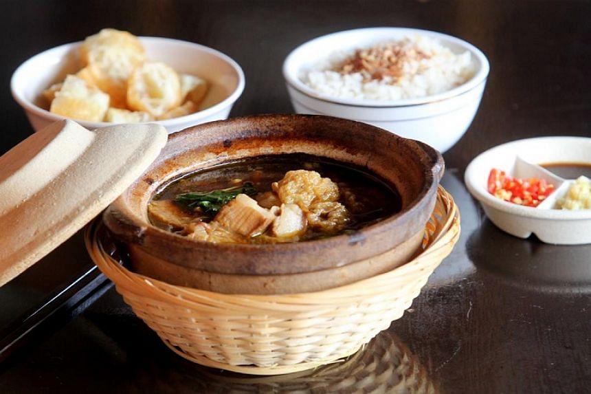 Tan's bak kut teh is made according to how her grandmother made it, with a broth that is cooked for six hours to attain maximum flavour.