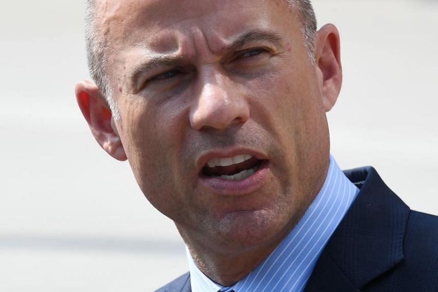 Mr Michael Avenatti, the lawyer for adult film actress Stormy Daniels, speaks to the press after a court hearing at the United States Courthouse in Los Angeles, on July 27, 2018.