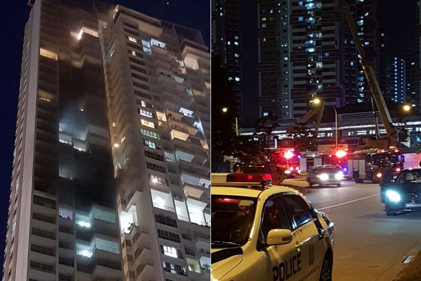 The fire is said to have broken out on the 23rd floor of Block 8 at The Metropolitan, a condominium in Alexandra View near Redhill MRT station.
