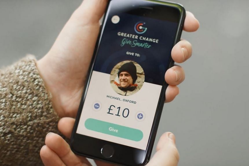 Social innovation project Greater Change aims to allow passers-by to donate money to the homeless using a smartphone application.