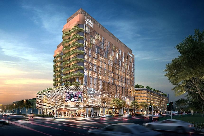 An artist's impression of Tekka Place, which will comprise a 10-storey main block and seven-storey annex block with rooftop deck. The integrated development is slated for completion in the later part of next year.
