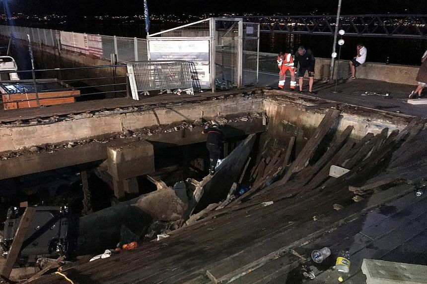 The sudden collapse of part of a wooden promenade during a music festival in Spain left more than 260 people injured, five of them seriously. The seafront platform, which was 30m long by 10m wide, was packed with people watching a rap artist in the n