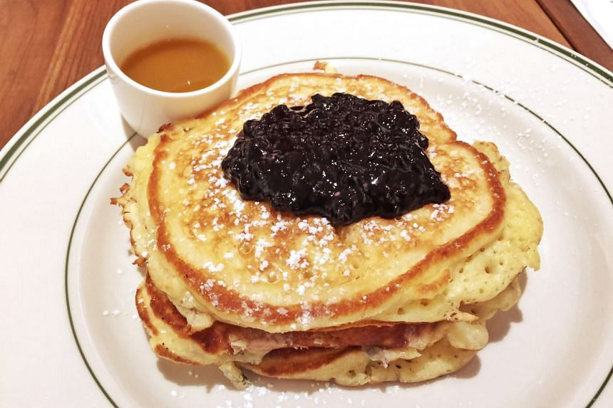 Pancakes with Warm Maple Butter, from Clinton St. Baking Company & Restaurant at 31 Purvis Street.