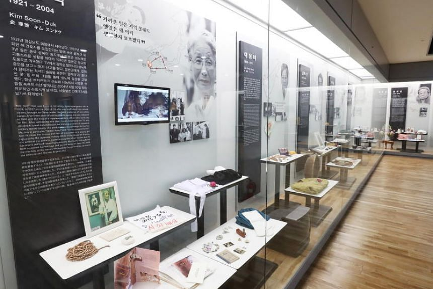 An exhibition room of the House of Sharing, where personal belongings of comfort women victims are on display, in Gwangju, South Korea.