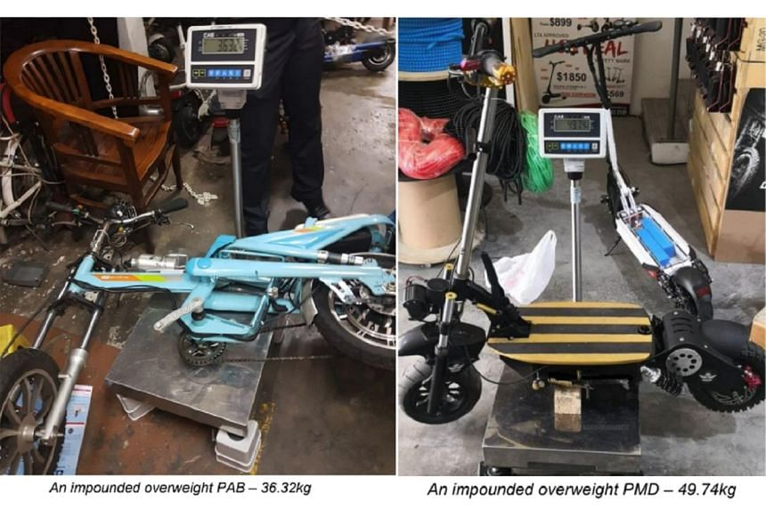 PMDs must not exceed 20kg in unladen weight, 70cm in width, and 25kmh in device speed. Retailers found selling non-compliant devices or modifying devices so they become non-compliant could be fined up to $5,000, face imprisonment of up to three month