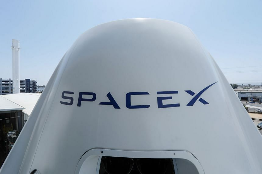 The top of a replica Crew Dragon spacecraft is seen at the SpaceX headquarters in Hawthorne, California, US, on Aug 13, 2018.