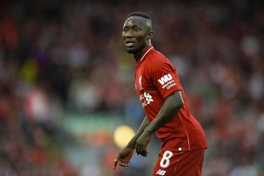 Liverpool's Naby Keita in action during a friendly soccer match between Liverpool and Torino held at Anfield, Liverpool, Britain, on Aug 7, 2018.