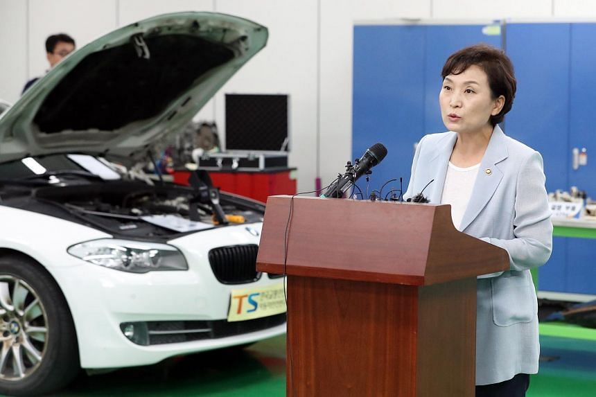 Transport Minister Kim Hyun-mee has asked owners of the BMW cars subject to the recall to actively cooperate to prevent bigger accidents.