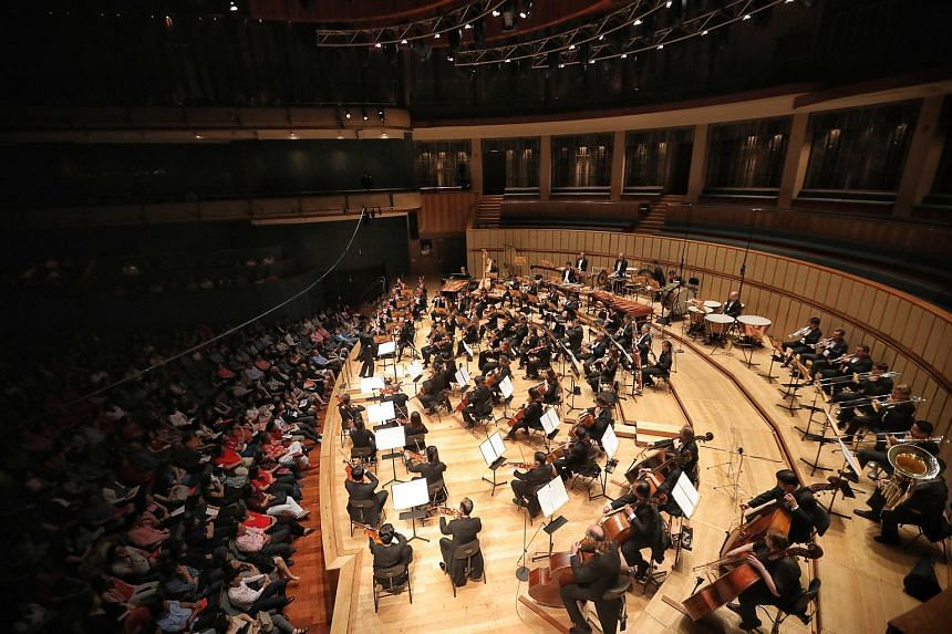 Singapore Symphony Orchestra concert at the Esplanade Concert Hall on Aug 11, 2018.