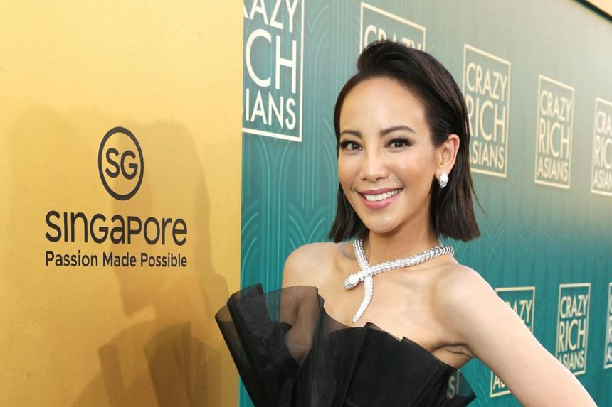 Fiona Xie at the US premiere of Crazy Rich Asians at the TCL Chinese Theatre IMAX in Hollywood, on Aug 7, 2018.