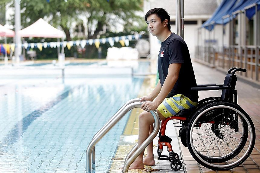 National para-swimmer Toh Wei Soong, seen here at Farrer Park Swimming Complex, has been conducting interviews with residents and users of the Farrer Park fields and inviting sporting personalities and athletes to contribute their memories, which he