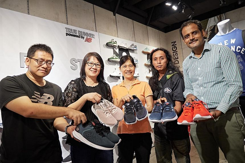 Ten lucky winners walked away with shoes from New Balance yesterday at its Paragon outlet. All had signed up for The Straits Times Run on Sept 23, for which New Balance is the official sportswear sponsor. Runners who have already registered can look