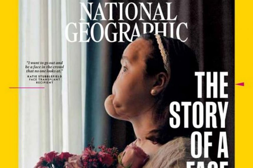 """She is featured on the cover of National Geographic magazine's September issue, released in a piece titled """"The Story of a Face""""."""
