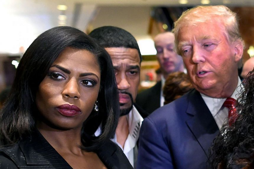Ms Omarosa Manigault-Newman appearing alongside then Republican presidential hopeful Donald Trump in 2015.