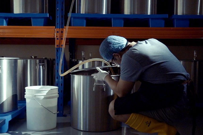 Mr Zhao uses a variety of spices and dried fruits to create different notes in his home brews.