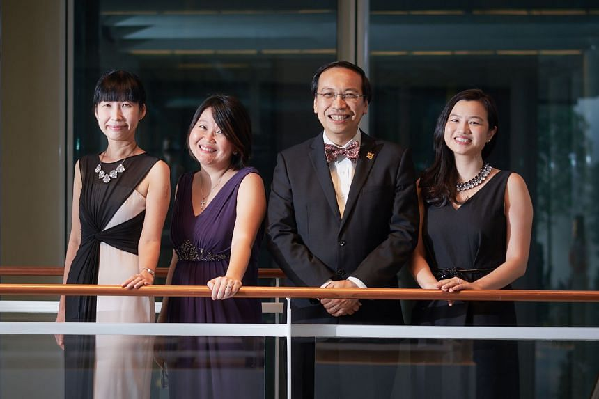 From left: Chan Mei Chern, Geraldine Wong Cheng Im, Associate Prof Daniel Fung Shuen Sheng, and Grace Li Jiaying from the Institute of Mental Health's Response, Early Intervention and Assessment in Community Mental Health Programme.
