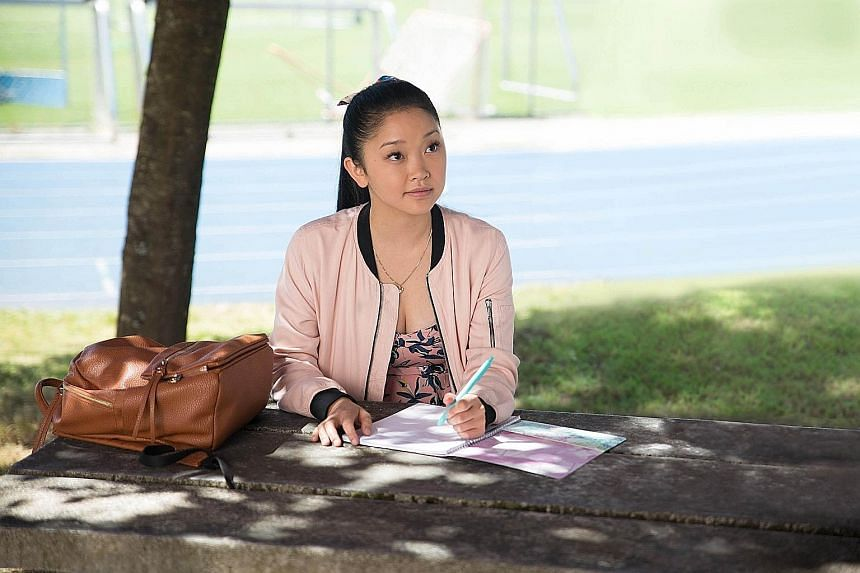 Vietnamese-American actress Lana Condor (left) plays Lara Jean Covey in To All The Boys I've Loved Before (far left).