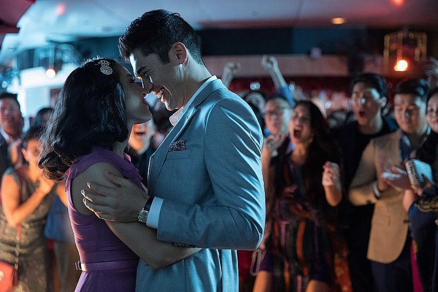 Constance Wu and Henry Golding in Crazy Rich Asians, which opens in Singapore next week.