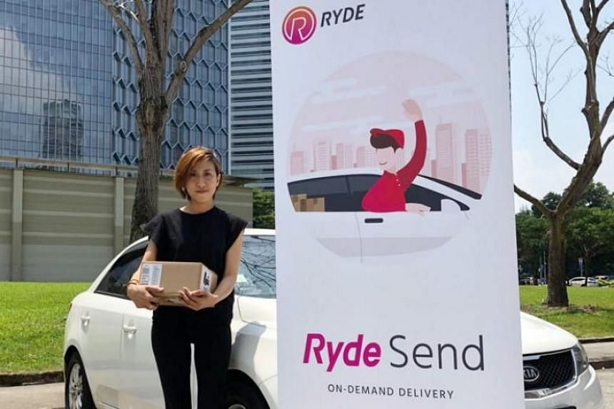 With RydeSend, users can send items via Ryde's pool of drivers for delivery to recipients. Charges will be based on Ryde's RydeX private-hire car fares but with an additional surcharge of $6.