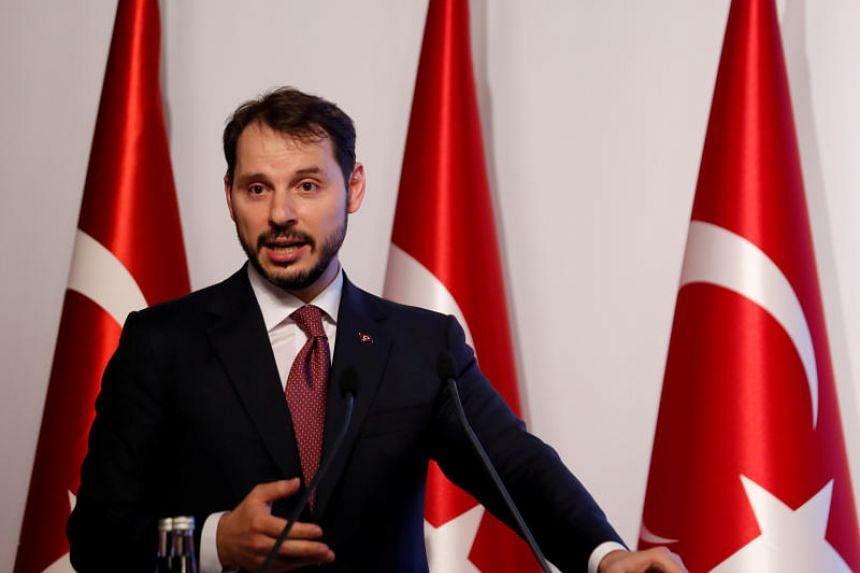 Turkey's finance minister Berat Albayrak will attempt to soothe the markets over the lira's dramatic decline as tensions with the United States escalate.