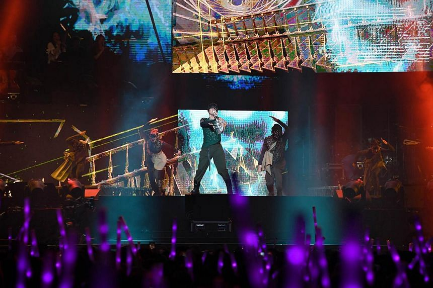 JJ Lin made a dramatic entrance for his Sanctuary World Tour at the Singapore Indoor Stadium, on Aug 15, 2018.