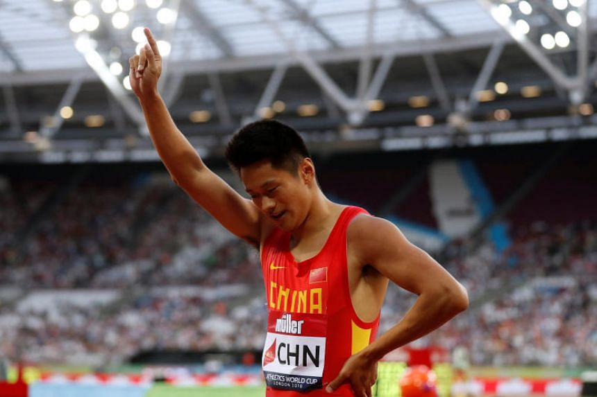 Chinese sprinter and medal hope Xie Zhenyec was scheduled to race in the 4x100m relay in Indonesia.