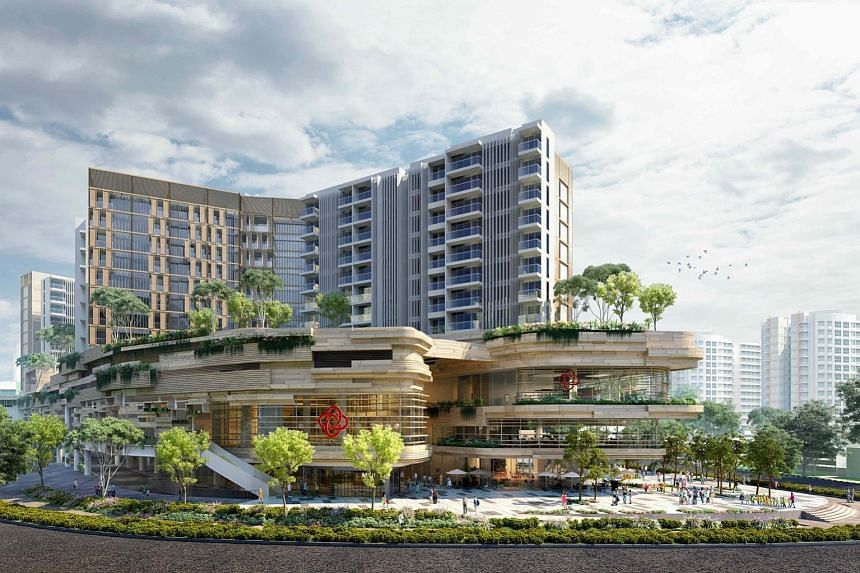 The integrated development by CapitaLand and joint venture partner CDL will have a bus interchange on the first storey, a hawker centre on the second storey and a community club that spans three storeys. It is targeted for completion in the first hal