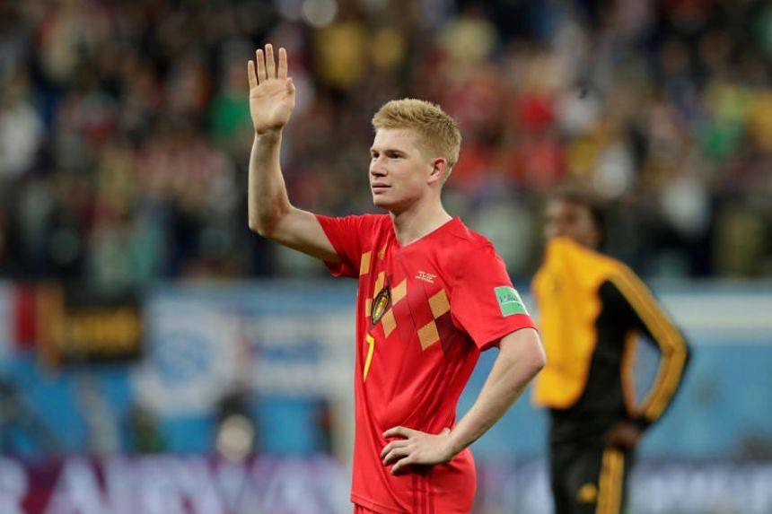 Kevin De Bruyne after the World Cup semi-final in Saint Petersburg, Russia, on July 10, 2018.