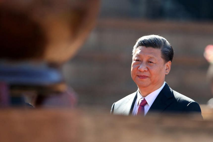 China's President Xi Jinping at the Union Buildings in Pretoria, South Africa, on July 24, 2018.
