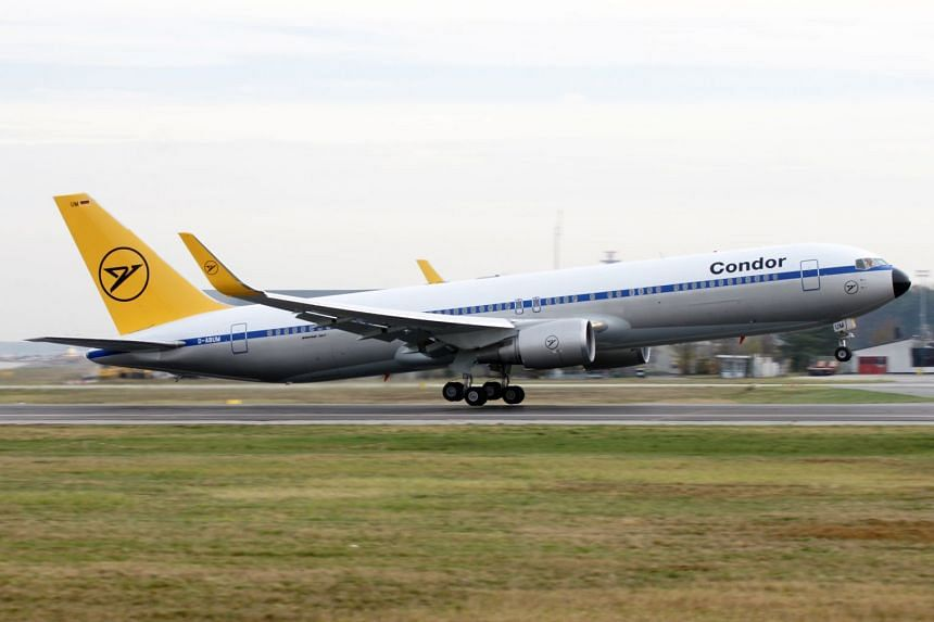 A Condor passenger jet as featured in promotional photos from the company's website.